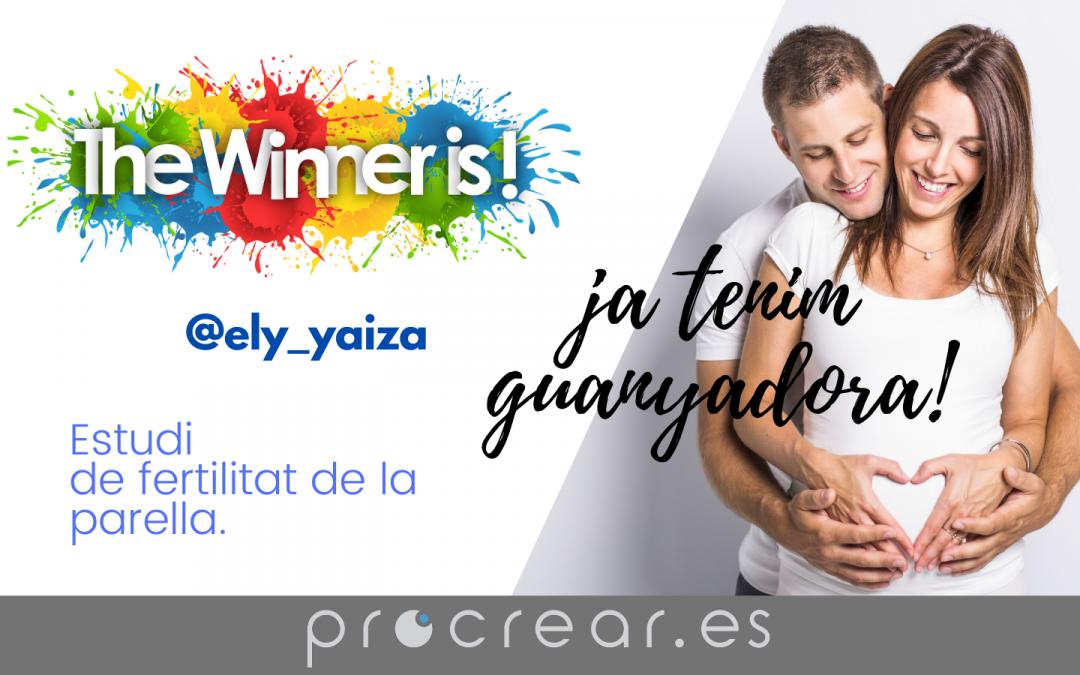 Ya tenemos ganadora del Sorteo: «Estudio de fertilidad de pareja»
