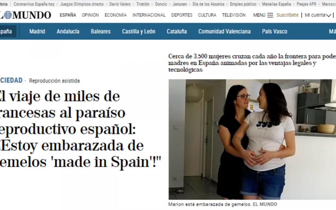 El viaje de miles de francesas al paraíso reproductivo español: «¡Estoy embarazada de gemelos 'made in Spain'!» @elmundoes